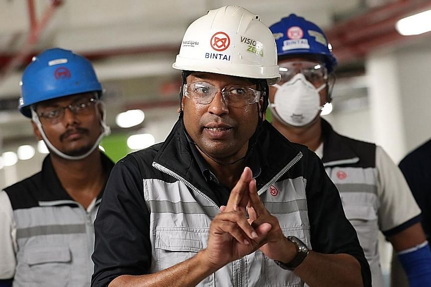 Mr Barak Mohamed, head of workplace safety and health at Bintai Kindenko, where company supervisors conduct safety checks and training with workers at the start of the day and before beginning new work activities.