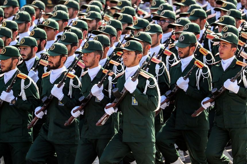 Iran's elite Revolutionary Guards Corps has an estimated 125,000-strong military with army, navy and air units and answers to Supreme Leader Ayatollah Ali Khamenei.