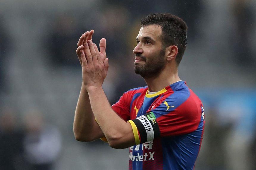 Crystal Palace's Luka Milivojevic celebrates after the match.