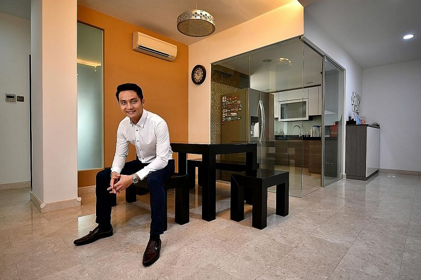 The 1,410 sq ft, three-bedroom condo in Modena in Simei is one of Mr Tan's seven property purchases. He has plans to add to his portfolio as he expects property prices to stay strong in the long run. The Modena condo next to Simei MRT and Eastpoint M