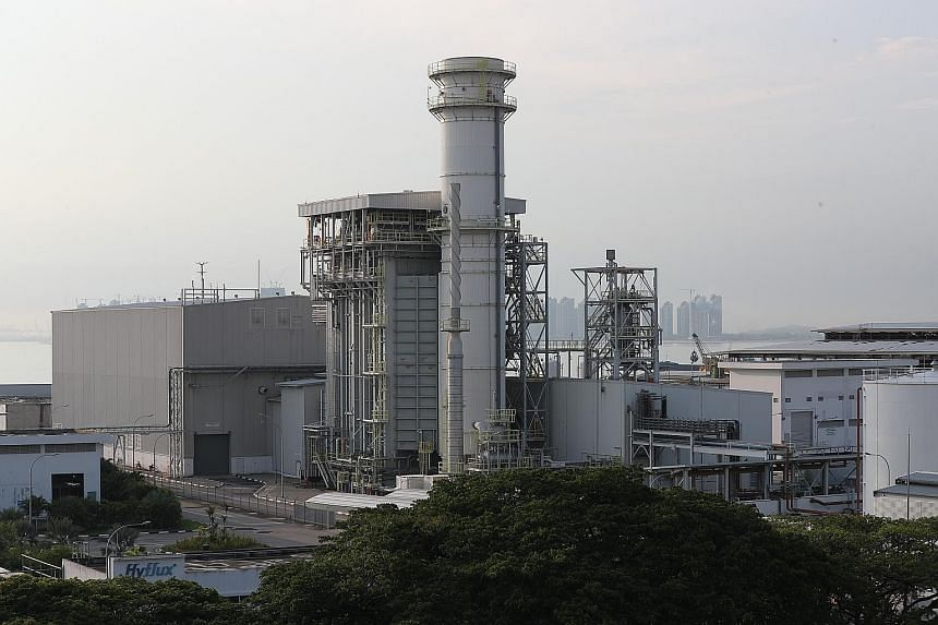 At the centre of the Hyflux saga is Tuaspring (left), a water desalination and power generation plant at Tuas - which helps secure Singapore's water needs.