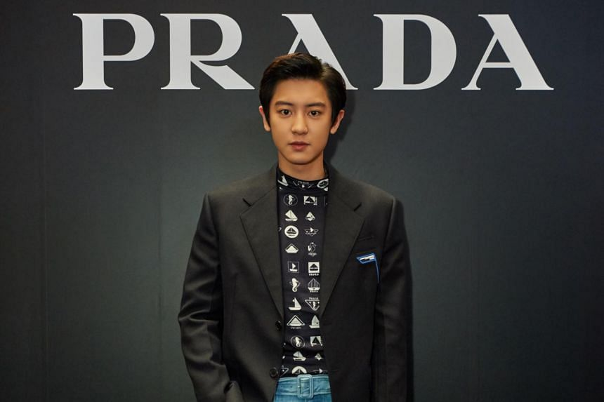 K-pop idol Chanyeol, who was in town for the Prada Spring/Summer 2019 Party on April 5, 2019.