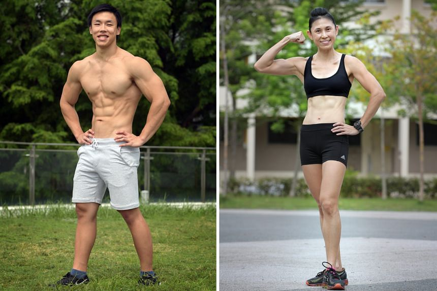 Left: Chin Nian Kang, 25. Right: Evelyn Yong, 44.