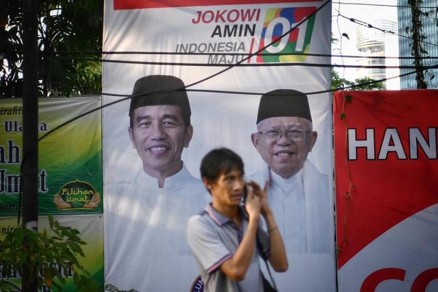Supporters of President Joko Widodo and his running mate Ma'ruf Amin allegedly threw stones at the regional headquarters of the Islamic Defenders Front in Sleman, Yogyakarta, on April 7, 2019.