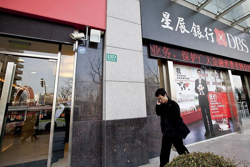 DBS Bank's branch in Chongqing. The bank says the city is key to western China's development and expects business activity and the demand for cross-border financing there to increase.