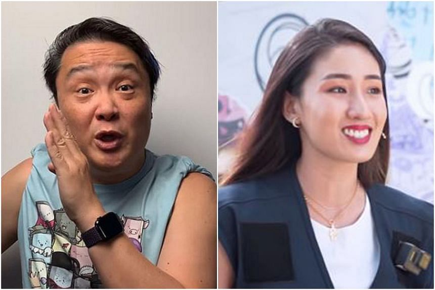 Local blogger mrbrown (left) has partnered SkillsFuture Singapore to produce a video in which he introduces SkillsFuture initiatives for working adults, while deejay Kimberly Wang was among six people featured in an escape room challenge video sponso