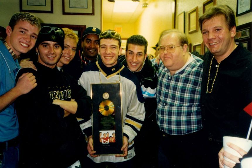'N Sync with manager Lou Pearlman (second from right) in happier times.