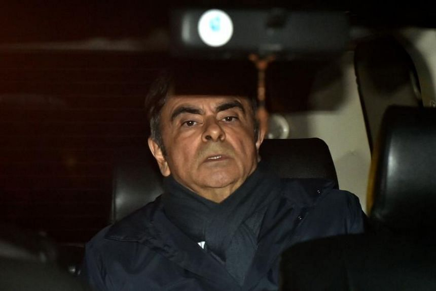 Former Nissan Chairman Carlos Ghosn leaving his lawyer's office in Tokyo on April 3, 2019.