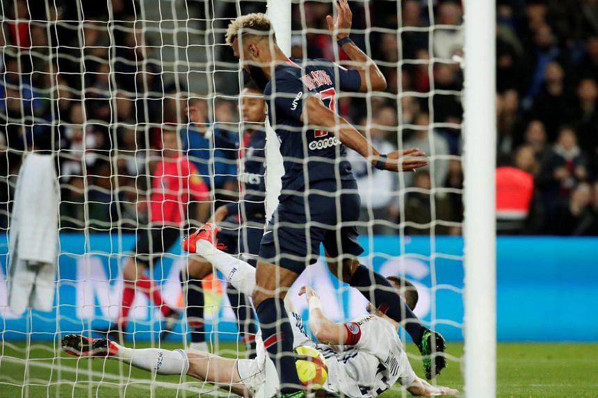 Eric Maxim Choupo-Moting somehow succeeded in turning a net-bound Christopher Nkunku shot onto the post while standing on the line.