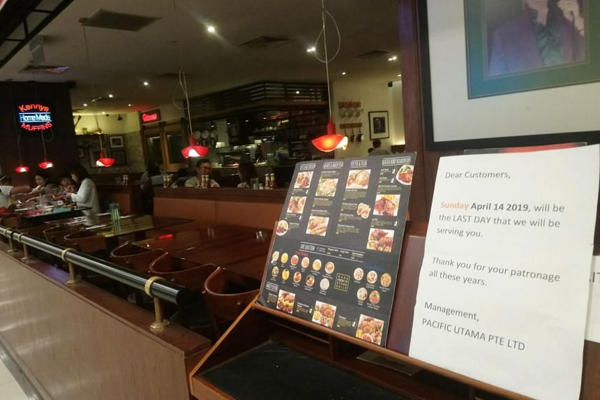 A notice was put up at the Kenny Rogers Roasters outlet at Great World City, which is on the first floor of the mall in Kim Seng Promenade, stating that April 14, 2019, would be their last day of operations.
