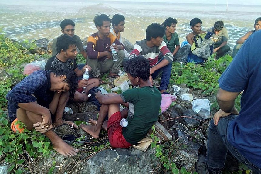 Forty-one Rohingya, aged between 14 and 30, were detained yesterday near the town of Simpang Empat after landing on Sungai Belati beach, state police chief Noor Mushar Mohamad said, adding that six people are missing.