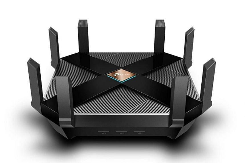 The TP-Link Archer AX6000 is a dual-band model that the firm says supports speeds of up to 4,804Mbps on its 5GHz channel and up to 1,148Mbps on its 2.4GHz channel using the Wi-Fi 6 standard.
