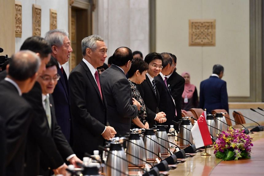 PM Lee and the Singapore delegation.