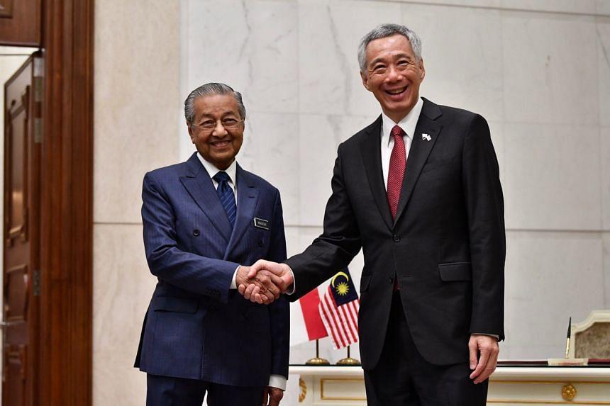 PM Lee and Tun Dr Mahathir at Perdana Putra in Putrajaya on April 9, 2019.