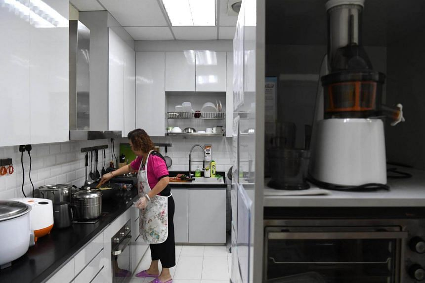 Madam Lim Chow is in charge of the kitchen at MapleBear's Toa Payoh North centre, and prepares meals for the pre-school.
