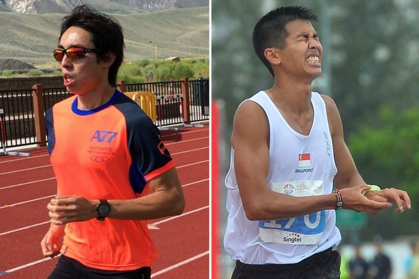 Soh Rui Yong (left) had publicly disputed fellow national marathon runner Ashley Liew's account of the 2015 SEA Games race.