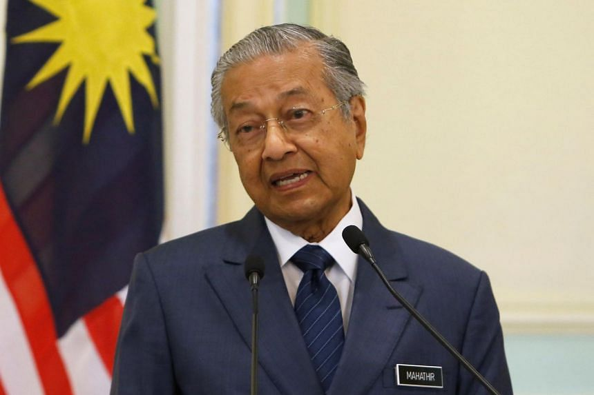 Tun Dr Mahathir Mohamad made the announcement at a joint press conference with Prime Minister Lee Hsien Loong in Kuala Lumpur on April 9, 2019.