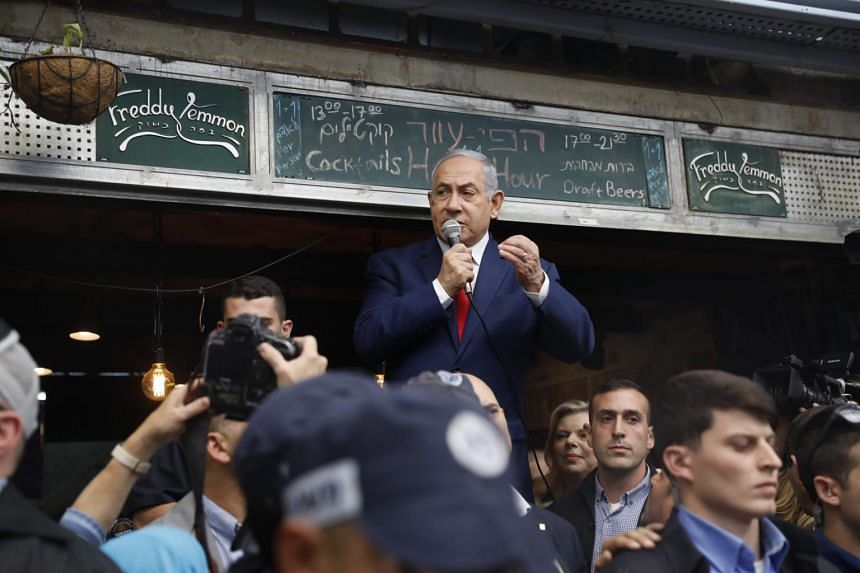 Israeli Prime Minister Benjamin Netanyahu has rallied a rightist camp hardened against the Palestinians and played up Israeli foreign policy boons that are the fruit of his ties with the Trump administration.