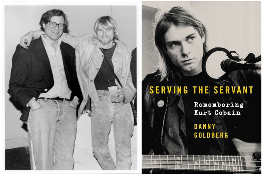 Danny Goldberg (far left), author of Serving The Servant: Remembering Kurt Cobain, with the late singer.