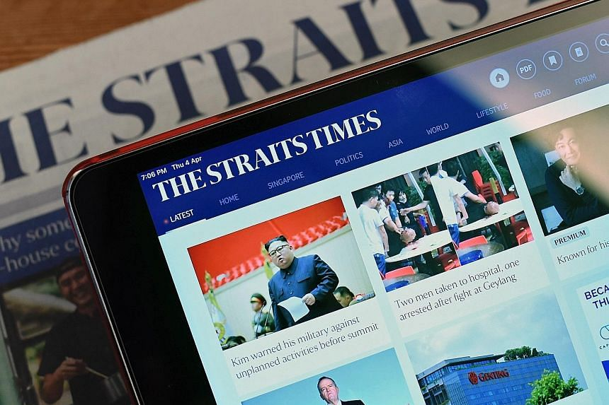 Revenue from SPH's digital media segment grew steadily for the six months ended Feb 28. Newspaper digital ad revenue increased 15.1 per cent year on year, while total digital revenue - including other portals and online classifieds - was up 13.1 per