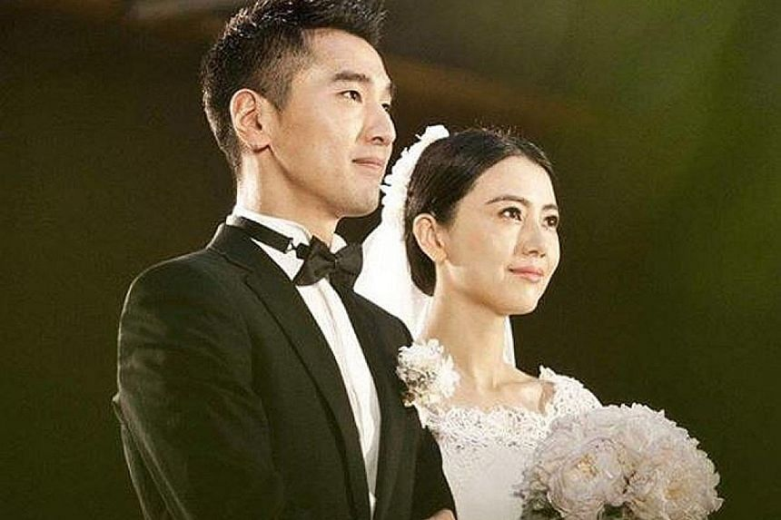 """BABY'S ON THE WAY: In 2014, when actress Gao Yuanyuan married Mark Chao (both above), she said: """"I waited and finally got you. Luckily, I did not give up (my search)."""" Five years later, another wait has ended for her, sparing Monga actor Chao from ha"""
