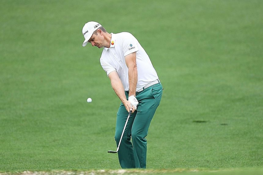 World No. 1 Justin Rose of England will be hoping he can get a Green Jacket to match his trousers on Sunday.