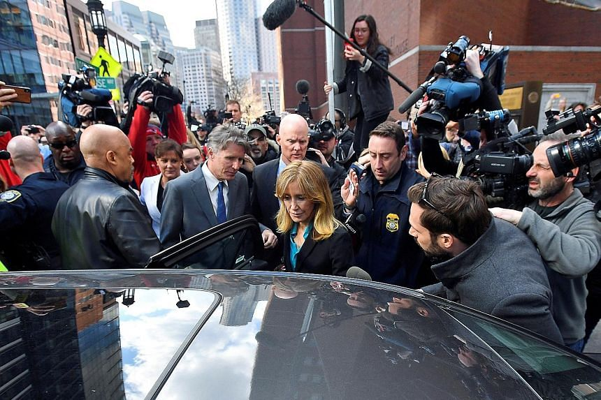 Actress Felicity Huffman leaving the federal courthouse in Boston, Massachusetts, last week after facing charges in a nationwide college-admissions cheating scheme.