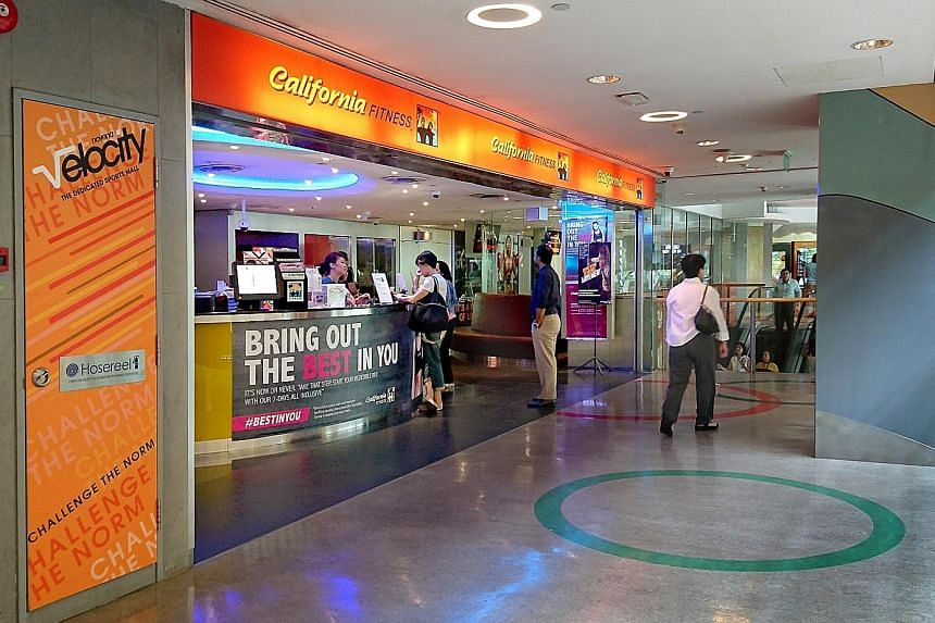The California Fitness branch at Velocity@Novena Square in 2016. The gym chain's abrupt closure in Singapore that year left thousands of members more than $20 million out of pocket.