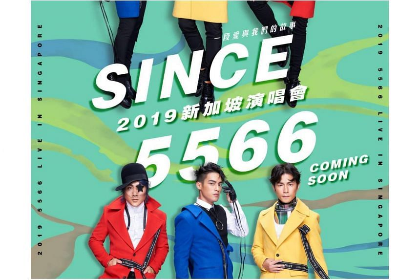 5566, now reduced to a trio from a quartet, staged a showbiz return with a sold-out gig in Taipei on Feb 23, according to portal mothership.