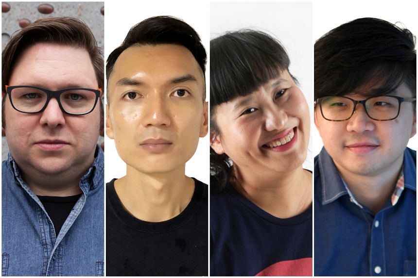 (From left) The four sound designers nominated for The Straits Times Life Theatre Awards 2019: Chris Wenn, Teo Wee Boon, Angie Seah and Vick Low.