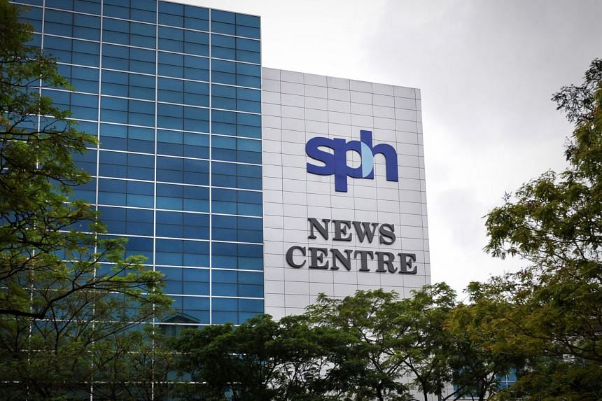 The Singapore Press Holdings (SPH) News Centre  showing the corporate logo at 1000, Toa Payoh North.