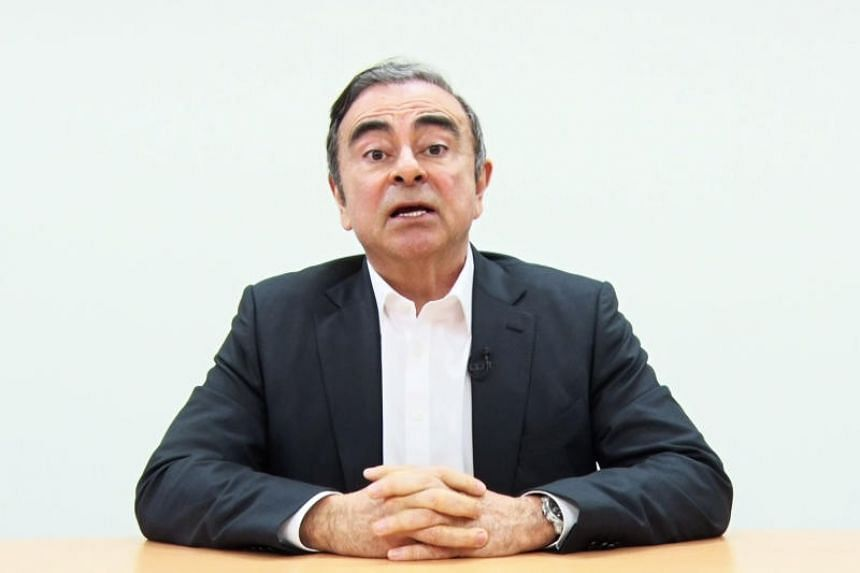 Former Nissan chief Carlos Ghosn speaking in a video message recorded before his rearrest earlier this month in Tokyo.