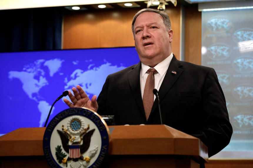 US Secretary of State Mike Pompeo speaks during a briefing on Iran at the State Department in Washington on April 8, 2019.