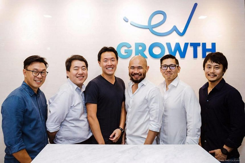 (From left)  EV Growth managing partner Willson Cuaca, EV Growth managing partner Roderick Purwana, ShopBack CEO Henry Chan, EV Growth advisor Batara Eto, EV Growth managing partner Shinichoro Hori and EV Growth VP of investment Yoshi Okubo.