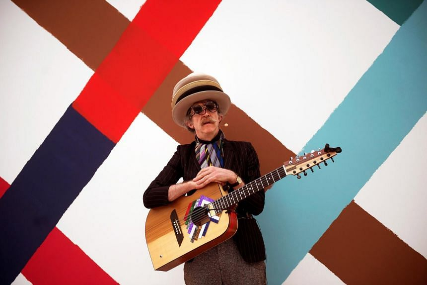 British artist Martin Creed is also a musician who has written albums and orchestral works, and will be in Singapore on Friday (April 12) to perform a half-improvised words and music show at the Gallery's auditorium
