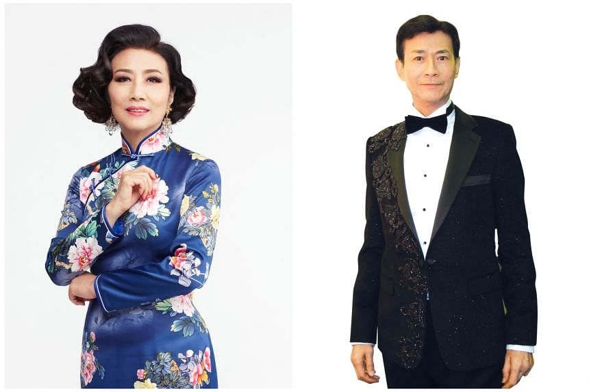 Liza Wang and Adam Cheng (both above) acted together in classic Hong Kong wuxia television drama series such as The Legend Of The Book And The Sword (1976). They last performed in Singapore in 2016.