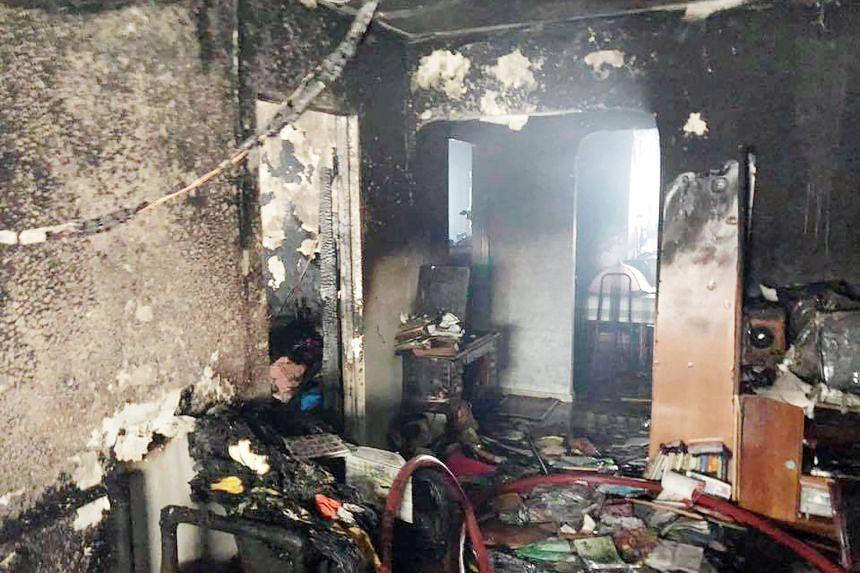 The Singapore Civil Defence Force said the fire, which started from a personal mobility device that had been left charging, involved the contents of the living room and a bedroom.