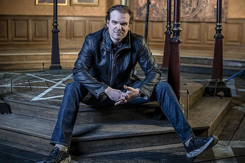 Actor David Harbour, who played a police chief in Stranger Things, says he finds acting to be a good emotional release.
