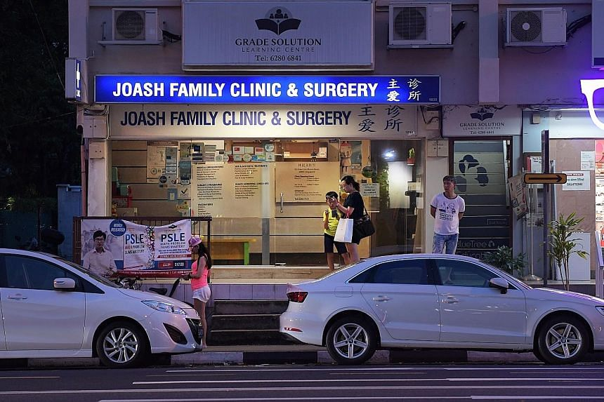 Patients can continue seeking treatment at Joash Family Clinic and Surgery in Upper Serangoon Road, but the treatment will not be covered by Community Health Assist Scheme subsidies from April 26.