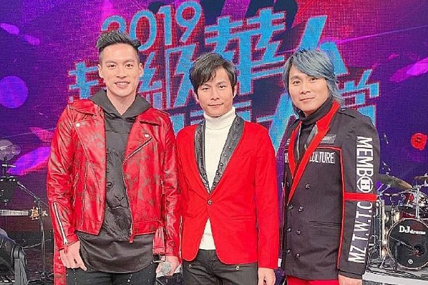 The remaining members of 5566 are (from left) Jason Hsu, Tony Sun and Zax Wang.