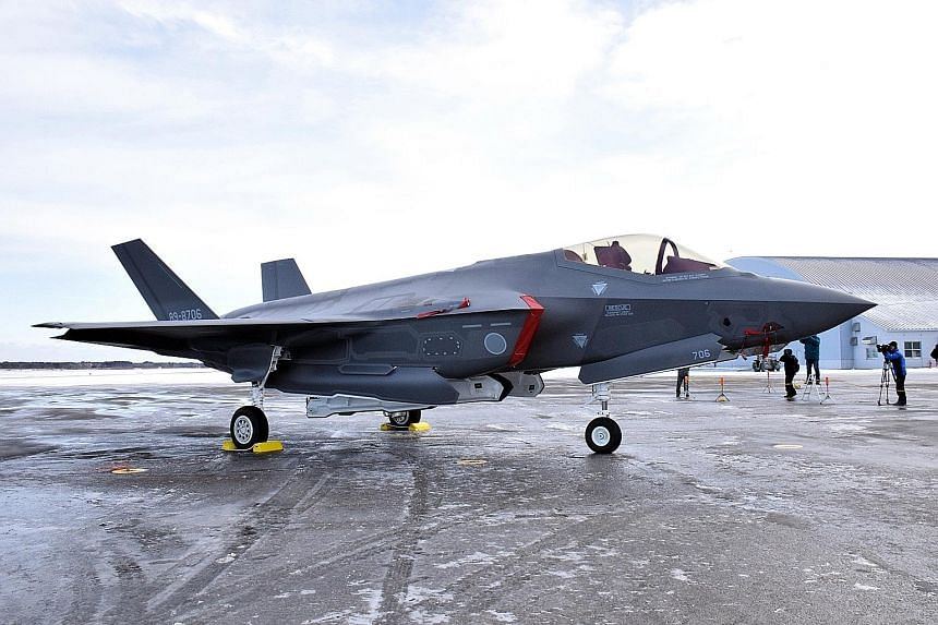 An F-35A stealth fighter jet of Japan's Air Self-Defence Force went missing on Tuesday. PHOTO: EPA-EFE