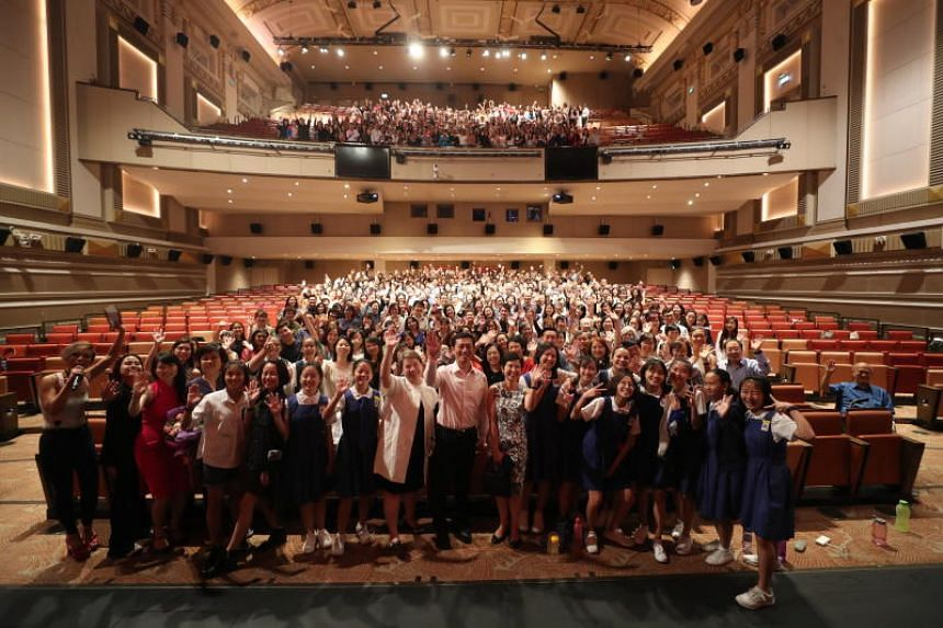 Education Minister Ong Ye Kung at the film premiere of From Victoria Street To Ang Mo Kio, a documentary-drama that pays tribute to the contributions of former educators from CHIJ St Nicholas Girls' School, on April 11, 2019.