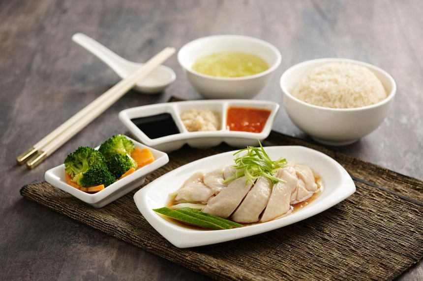 Pow Sing's signature Hainanese chicken personal set.