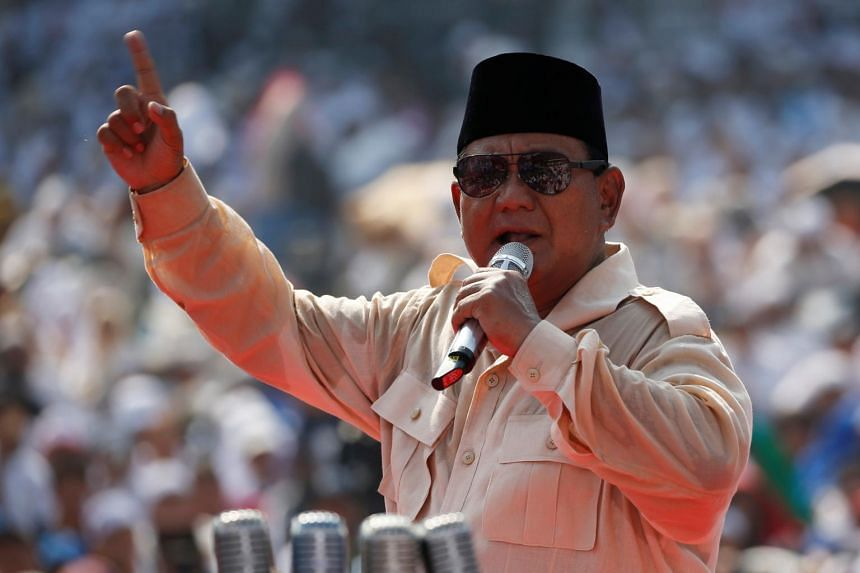 "Touting what he calls a ""tsunami"" of discontent, Mr Prabowo Subianto has openly challenged supporters at rallies to reject the election result if the president wins a second five-year term."