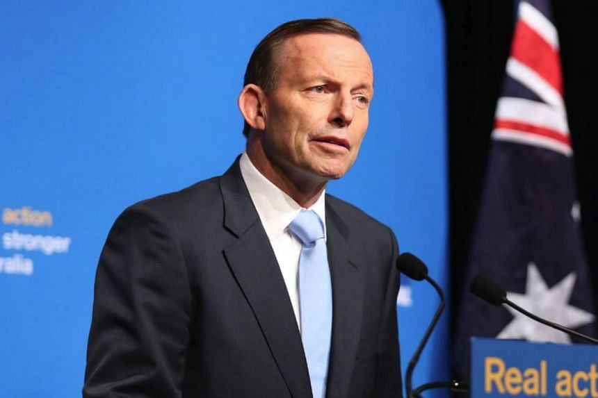 Former Australian prime minister Tony Abbott, who was replaced by the centrist Malcolm Turnbull in 2015 in an internal party brawl.