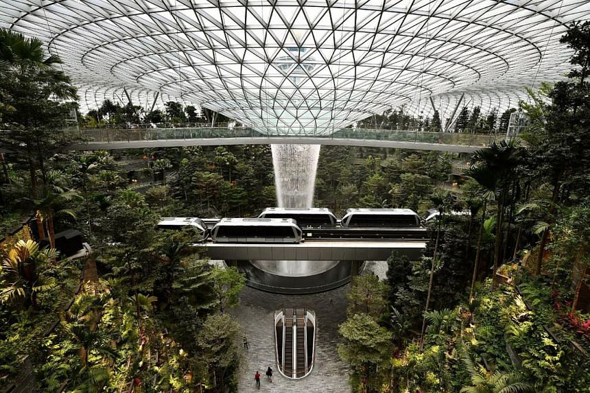Singapore airport unveils nature dome in fight for flights