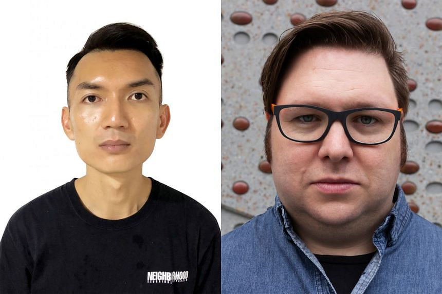 The sound designers nominated for The Straits Times Life Theatre Awards this year are Angie Seah, Vick Low, Teo Wee Boon (left) and Chris Wenn (right).