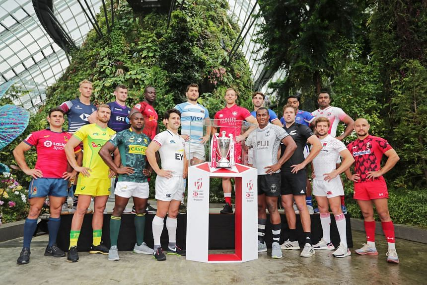 The world's best sevens players are all set to rock, ruck and rumble this weekend at the HSBC Singapore Rugby Sevens, with the 16 team captains gathered at the Gardens By The Bay Cloud Dome yesterday. This is the eighth stop of the 10-leg HSBC World