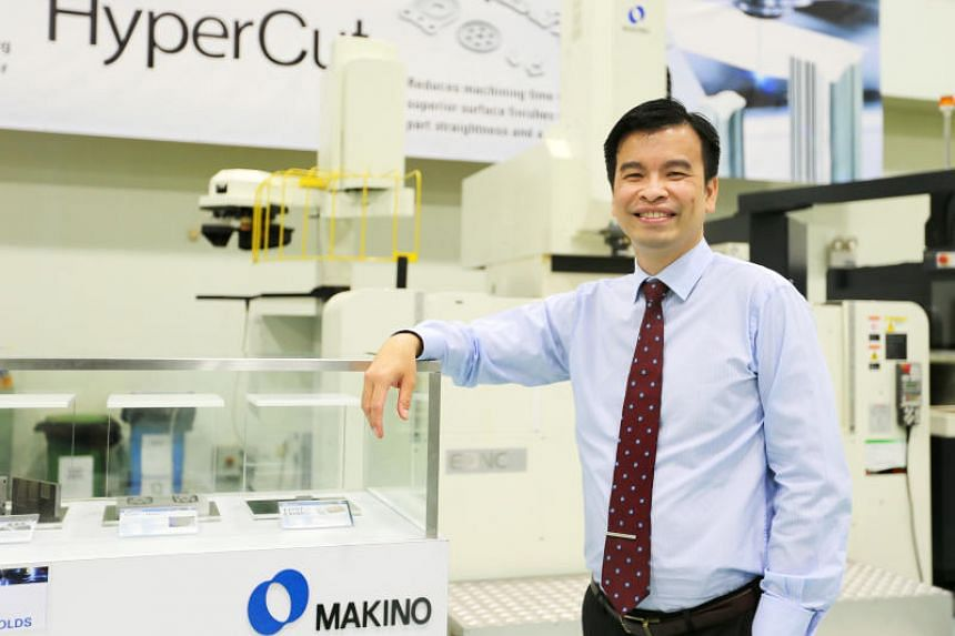 Makino Asia's chief executive officer and president Neo Eng Chong. The new smart facility launch marked the culmination of a digital transformation for the company that began in 2016.
