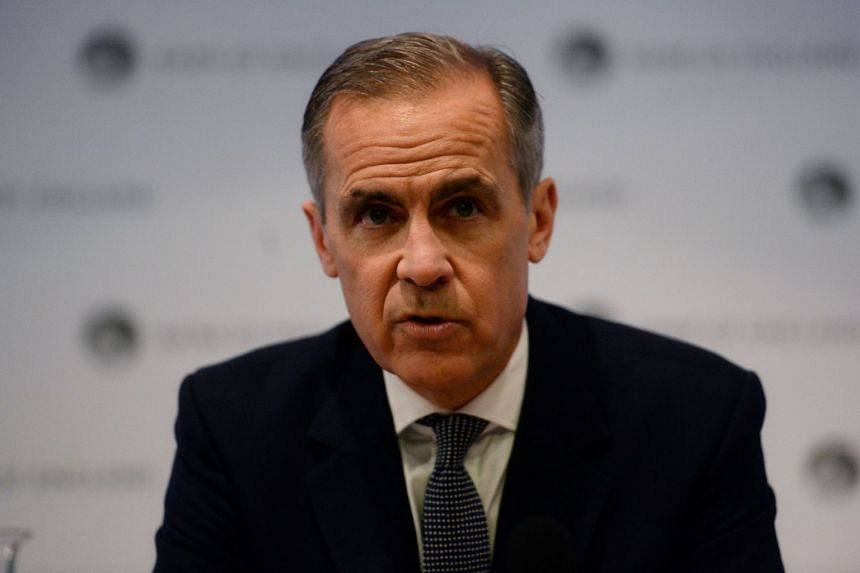 Carney (above) said the risk of a no-deal Brexit had been lowered.,